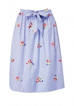 Mėlynas siuvinėtas sijonas