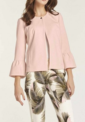 Short jacket with flounces, rose