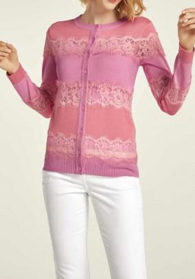 Romantiškas nėriniuotas megztinis