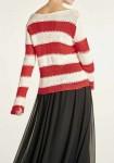 """Dryžuotas megztinis """"Red"""""""