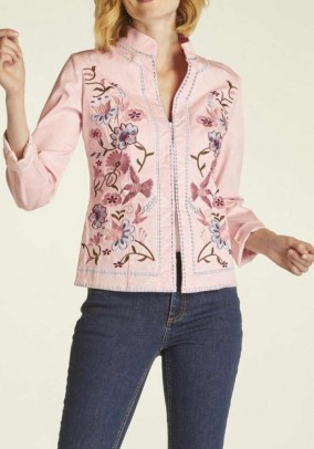 Embroidery jacket, rose-multicolour