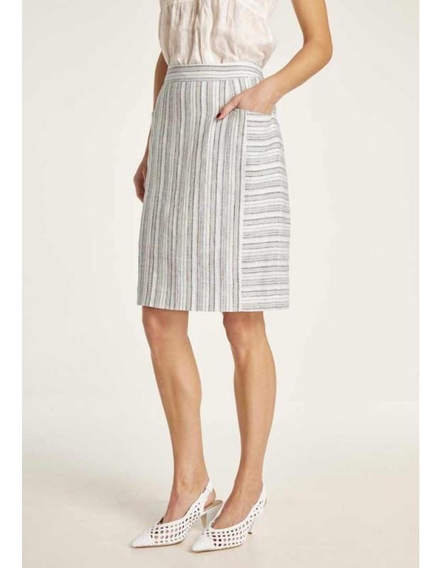 Dryžuotas lininis sijonas