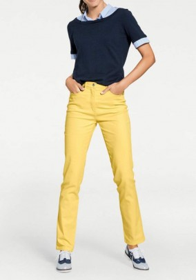 Jeans, sunny yellow