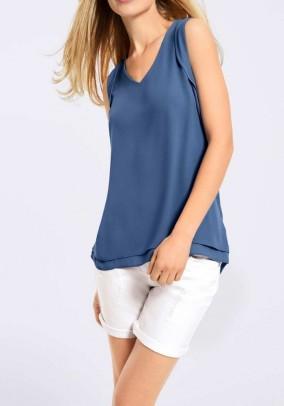 Blouse shirt, denim blue