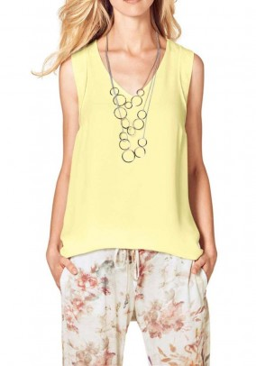 Blouse shirt, yellow