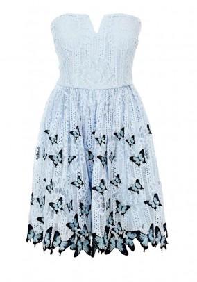 Lace dress, sky blue