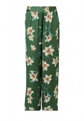 Satin pants, multicolour
