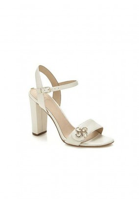 Leather sandal, offwhite