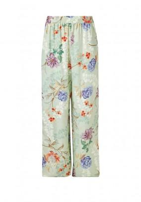 Satin palazzo trousers, multicolour