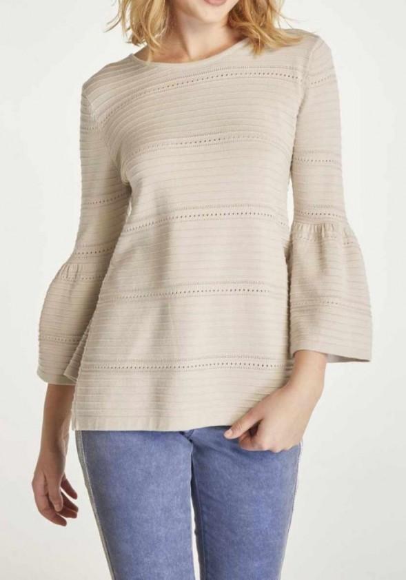 Smėlinis didesnio dydžio megztinis