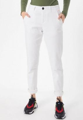 Chino trousers, white