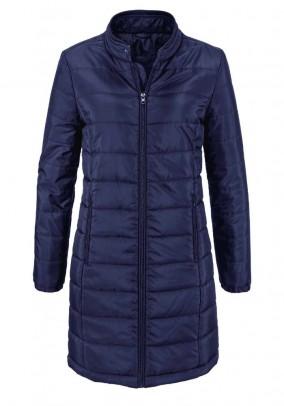 Mėlynas dygsniuotas paltas