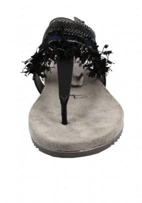 Sandal, black-metalic
