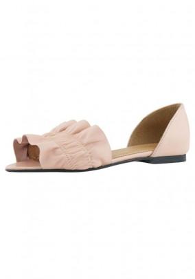Peep toe ballerina, rose