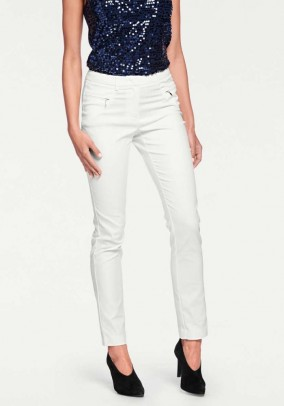 Slim fit trousers, offwhite