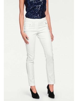 Baltos slim fit tipo kelnės