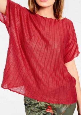 Fine knit sweater, geranium red