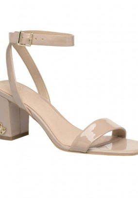 Branded sandals, beige