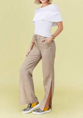 Linen trousers, sand