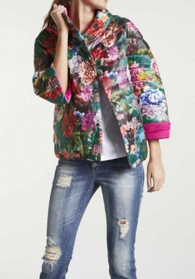 Reversible jacket, pink-multicolour