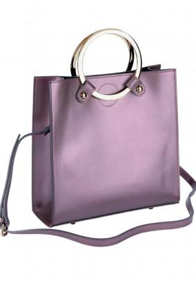 Violetinė odinė rankinė