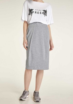 Jersey skirt, grey blend