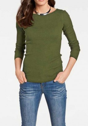 Silky sweater, olive
