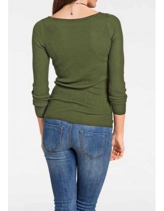 Žalias megztinis su šilku