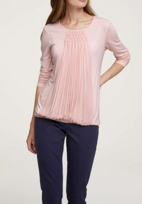 Jersey shirt with chiffon, rose
