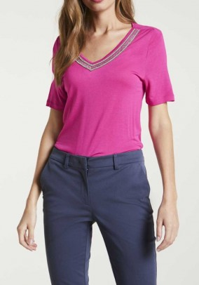 """Rožiniai marškinėliai """"Erica"""""""