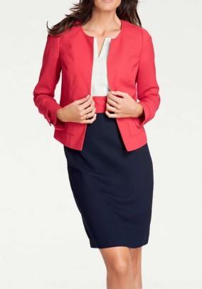 Short blazer, red