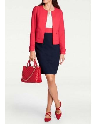 Elegantiškas raudonas švarkas