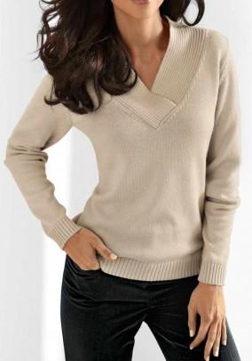 Smėlinis megztinis su kašmyru