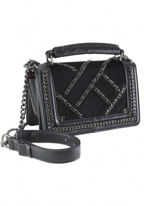 Purse with chains, black
