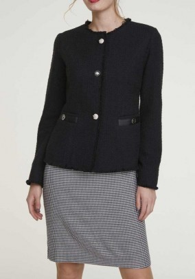 Boucle jacket, black