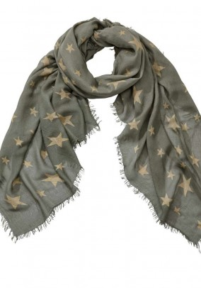 Scarf, khaki-gold coloured