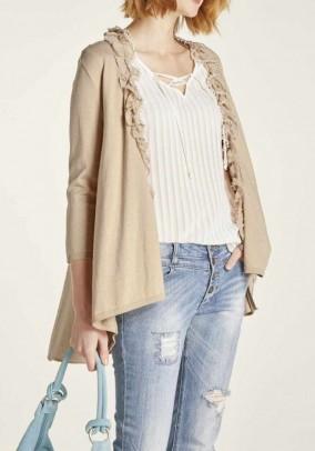Šviesiai rudas megztinis