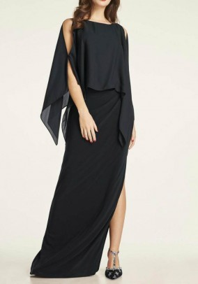 Evening gown, black