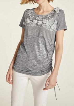 Jersey shirt, grey blend
