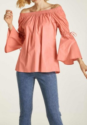 Carmen blouse, peach