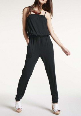 Jersey jumpsuit, black