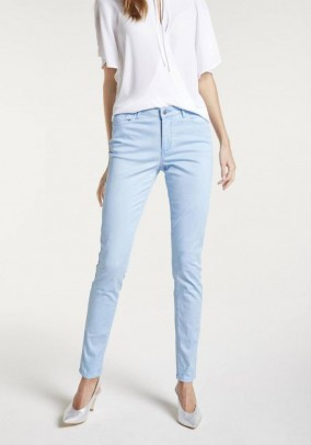 Slim fit trousers, light blue