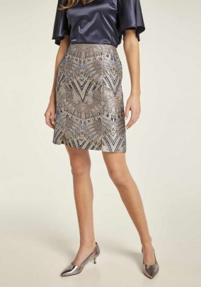 Jacquard skirt, multicolour