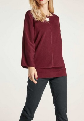 Sweater and top, red brown