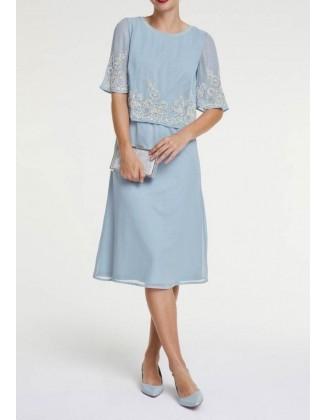 Mėlyna kokteilinė suknelė