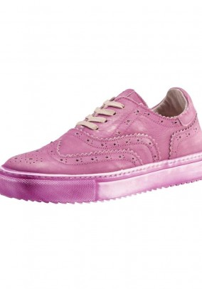 Leather sneaker, pink