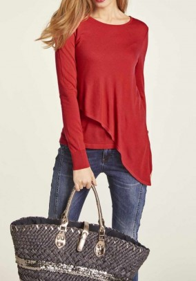 Layer sweater, red