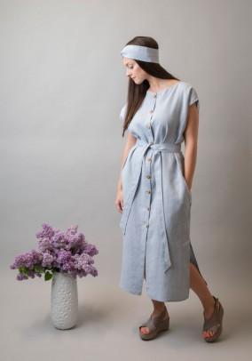 Melsva lininė midi suknelė