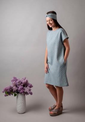 Taškuota lininė suknelė. Liko 36/38 dydis