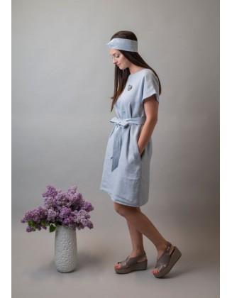 Melsva lininė suknelė